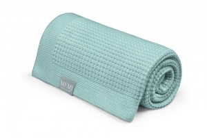 Eukaliptusowy kocyk 80x100 dusty mint - eco collection / MEMI
