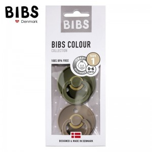 BIBS 2-PACK S GREEN HUNTER & DARK OAK Smoczek Uspokajający kauczuk Hevea